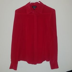 Silk Red Blouse